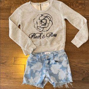 2/$15 LBN Amazing Hudson Flower Jean Short
